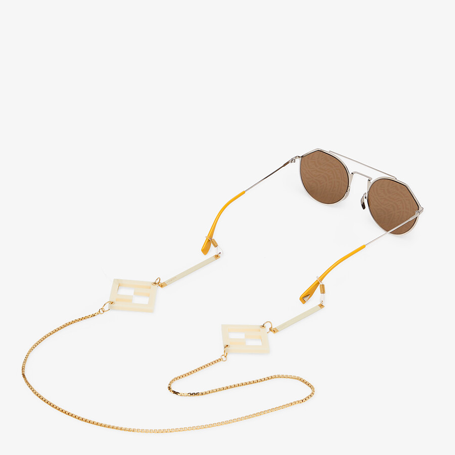 FENDI GLASSES CHAINS - Gold-colored necklace - view 2 detail