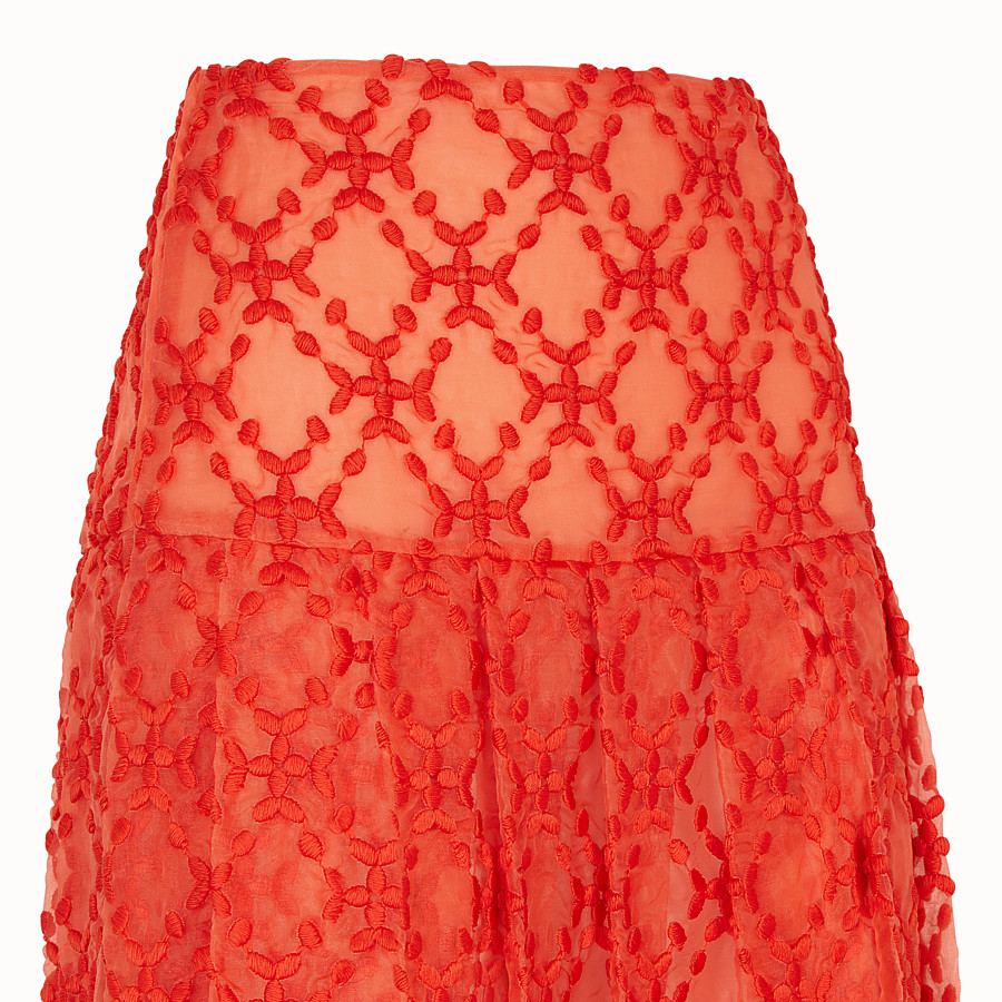 FENDI SKIRT - Orange organza skirt - view 3 detail