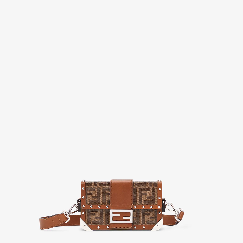 FENDI BAGUETTE TRUNK MINI - Brown fabric bag - view 1 detail
