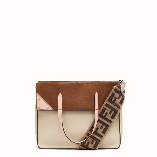FENDI FENDI FLIP LARGE - Sac en cuir beige - view 1 small thumbnail