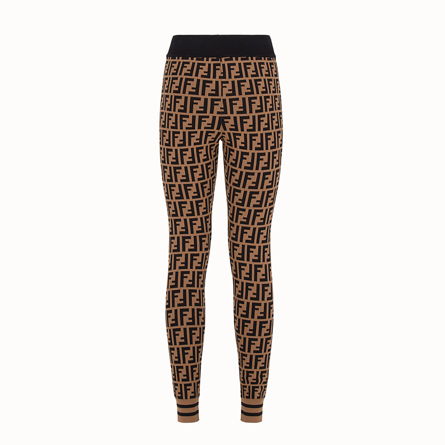 FENDI LEGGINGS - Multicolour fabric leggings - view 2 detail