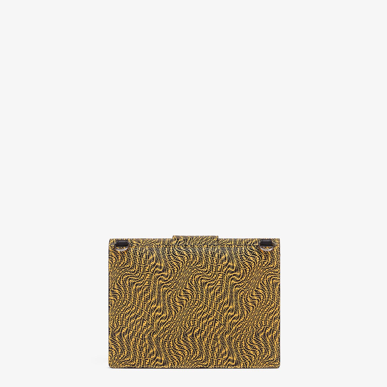 FENDI FLAT BAGUETTE - Yellow leather bag - view 3 detail