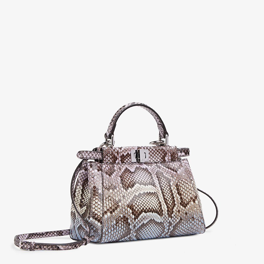 FENDI PEEKABOO ICONIC MINI - Python leather bag with graduated colors - view 2 detail
