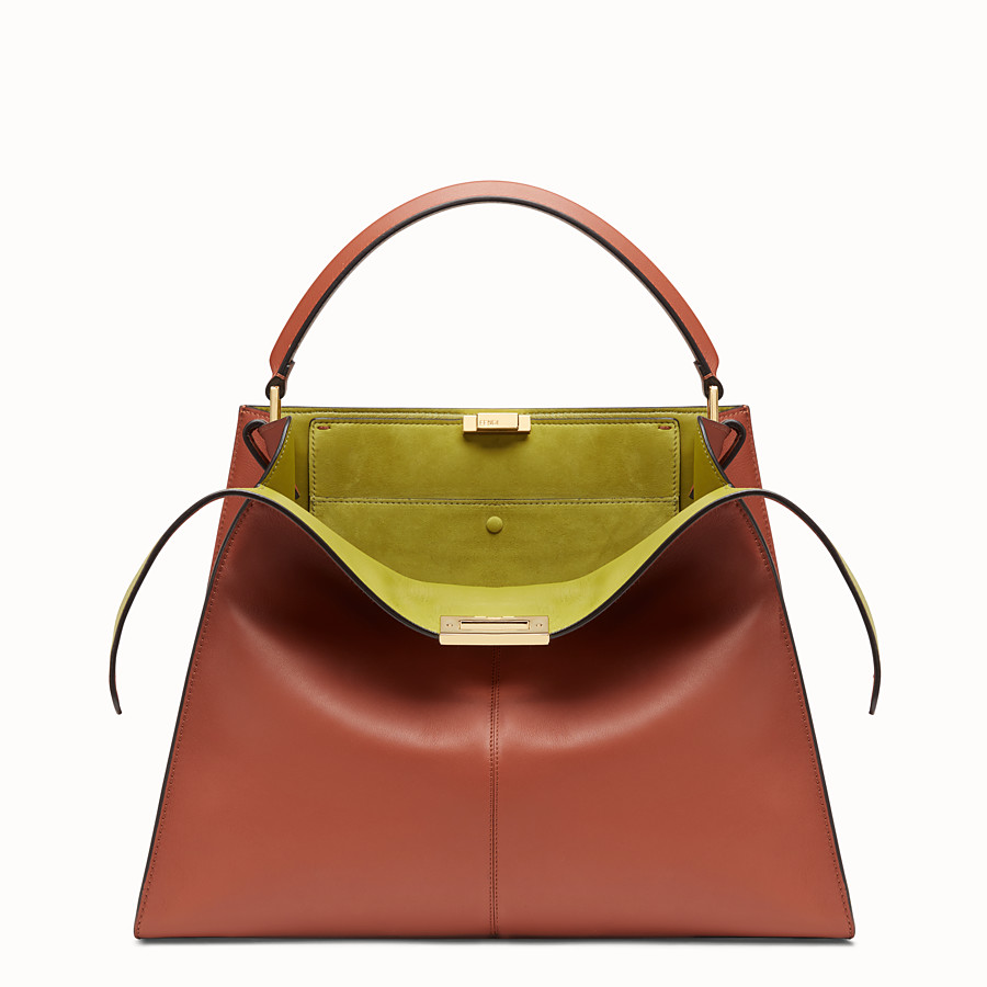 FENDI PEEKABOO X-LITE LARGE - Red leather bag - view 1 detail