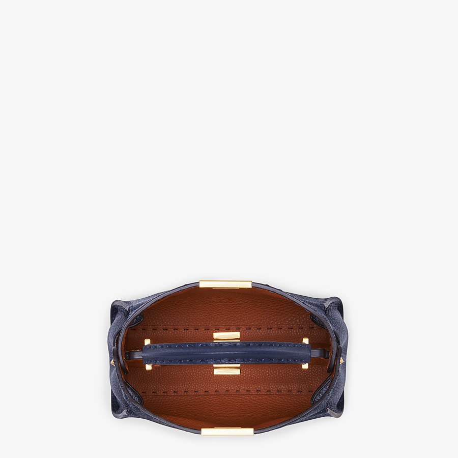 FENDI PEEKABOO ICONIC ESSENTIALLY - Blue leather bag - view 5 detail