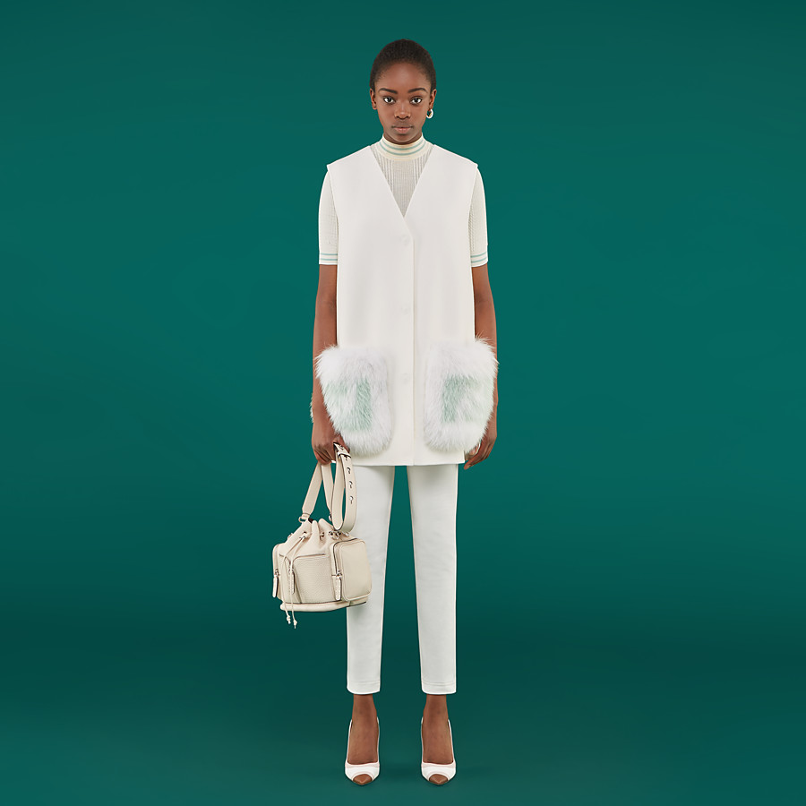 FENDI PULLOVER - White silk jumper - view 4 detail