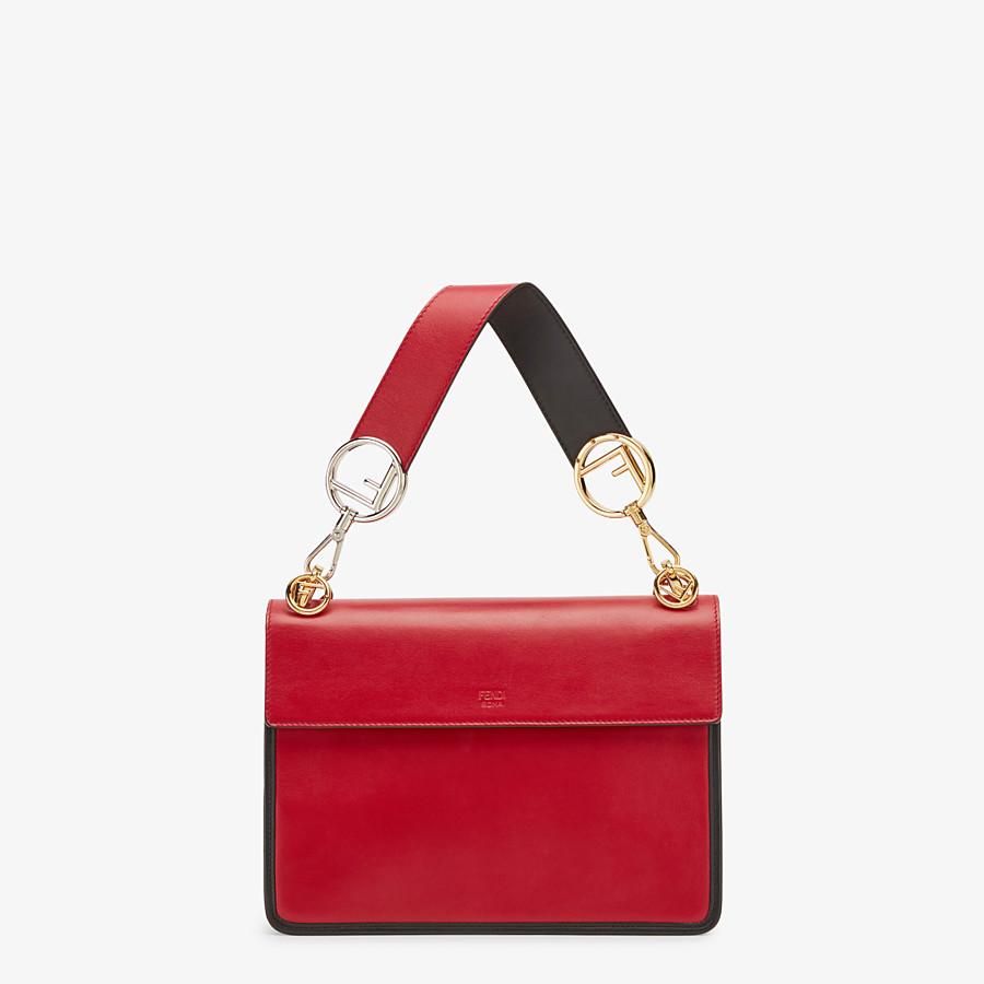 FENDI KAN I F - Tasche aus Leder in Rot - view 4 detail