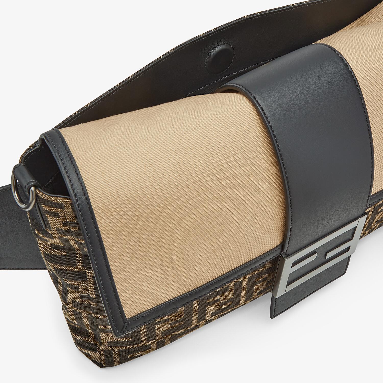 FENDI BAGUETTE LARGE - Brown fabric bag - view 6 detail