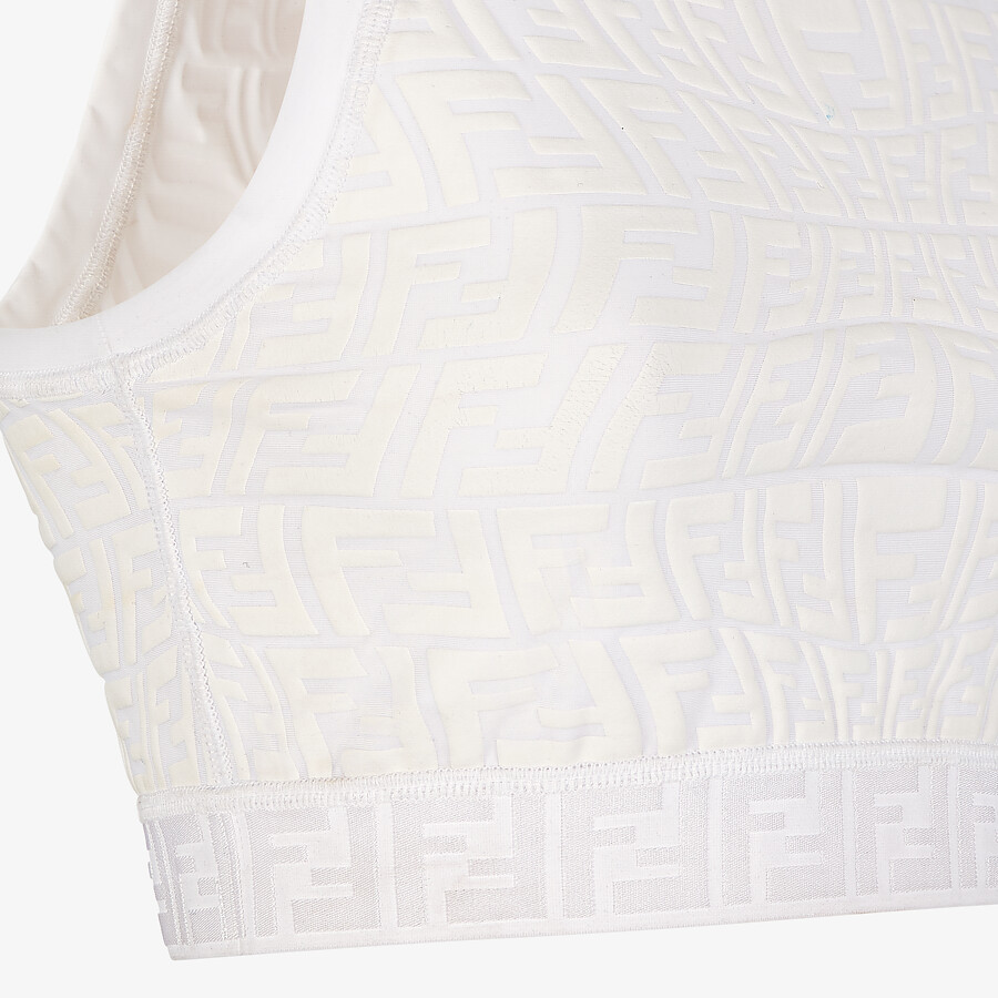 FENDI TOP - White tech fabric top - view 3 detail