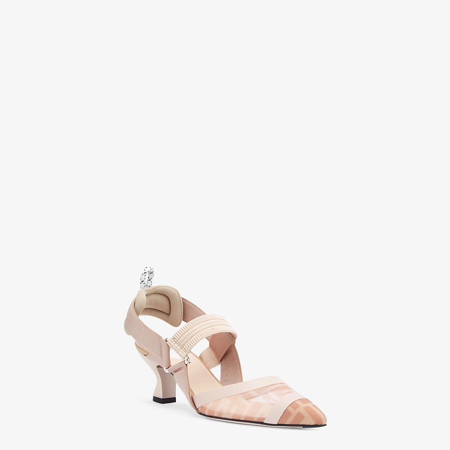 FENDI SLINGBACK - Colibrì en filet rose et cuir nude - view 2 detail