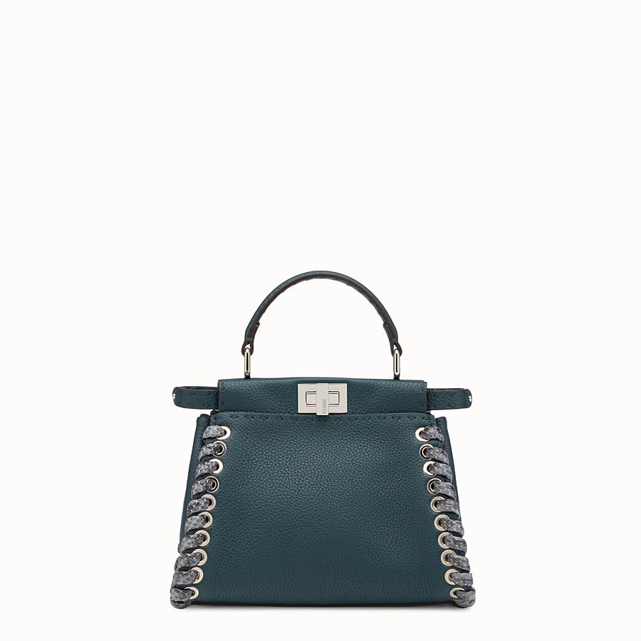 FENDI PEEKABOO MINI - Green Selleria handbag - view 1 detail