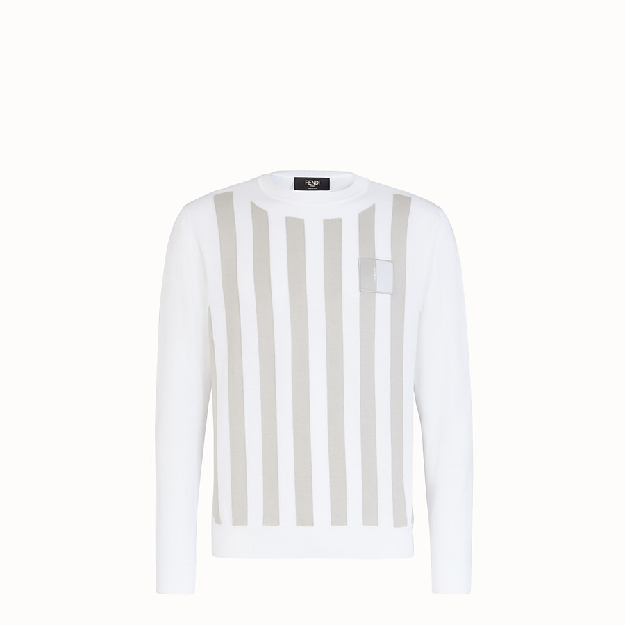 FENDI セーター - ホワイトコットン セーター - view 1 detail