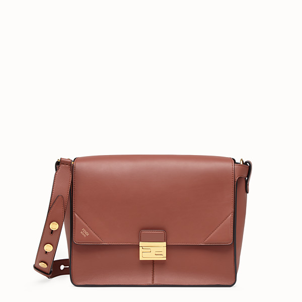 FENDI KAN U LARGE - Red leather bag - view 1 small thumbnail