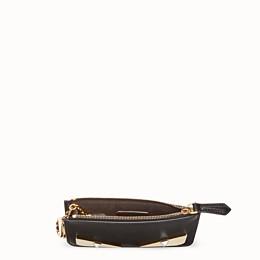 b3b3c712f8e Black leather pouch - KEY RING POUCH   Fendi