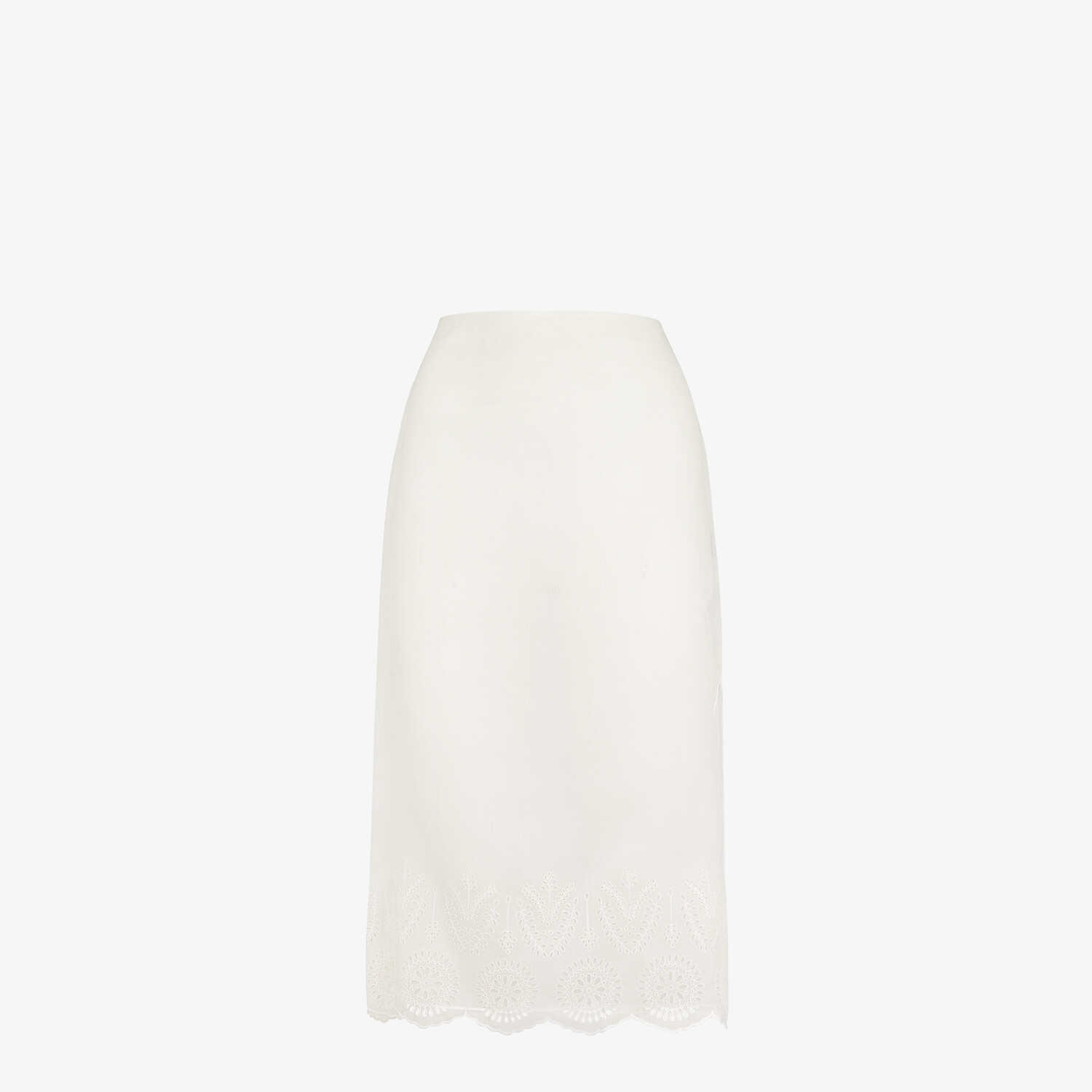 FENDI SKIRT - White silk skirt - view 1 detail