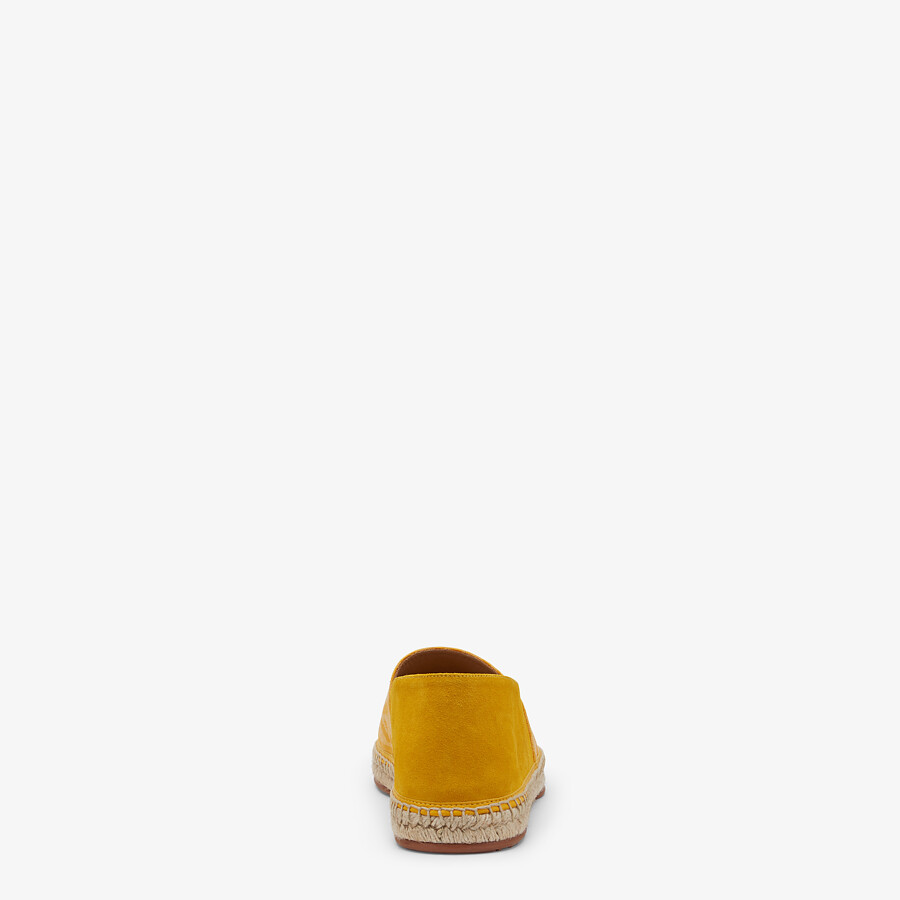 FENDI ESPADRILLES - Yellow fabric and suede espadrilles - view 3 detail