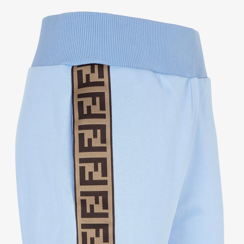 FENDI TROUSERS - Light blue jersey jogging trousers - view 3 detail