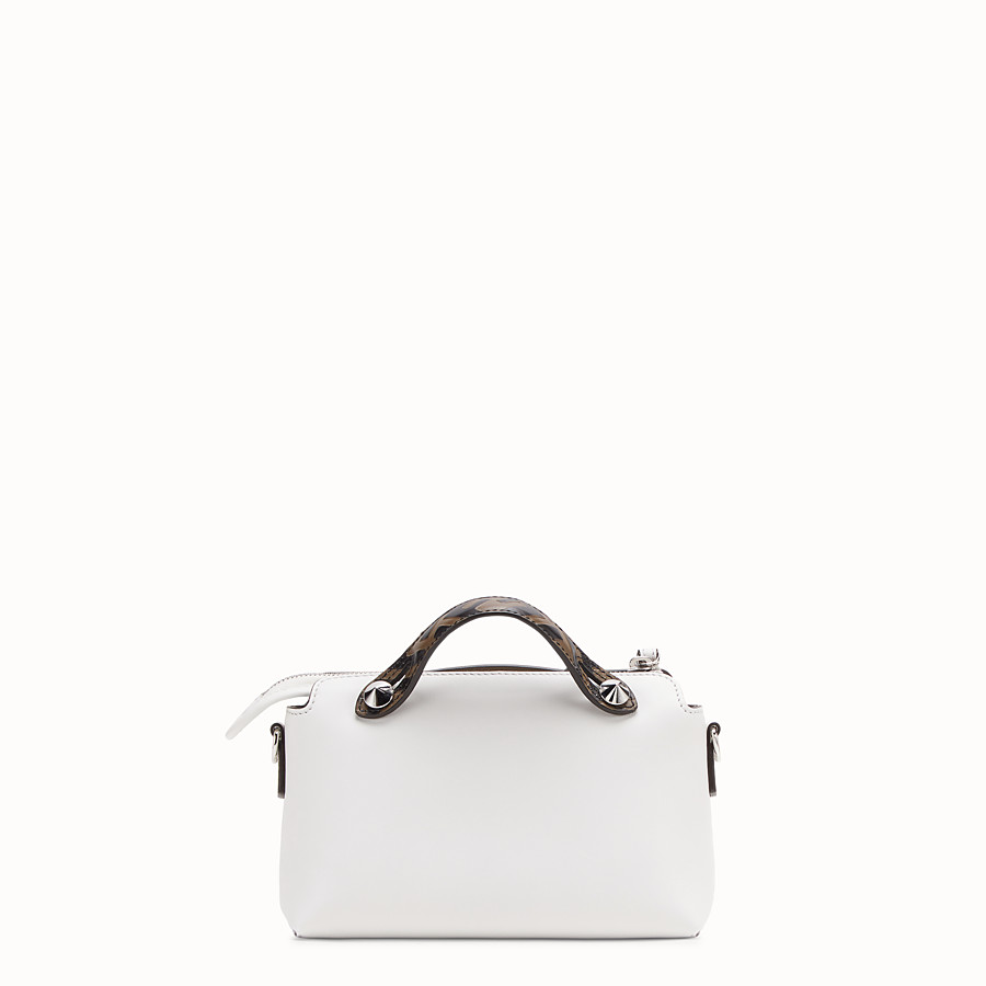 FENDI BY THE WAY MINI - Small white leather Boston bag - view 3 detail