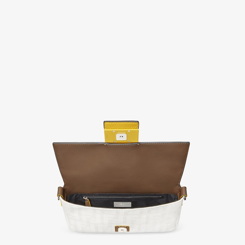 FENDI BAGUETTE - White canvas bag - view 5 detail