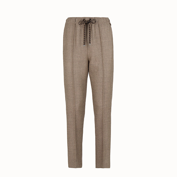 FENDI TROUSERS - Grisaille wool jogging trousers - view 1 small thumbnail