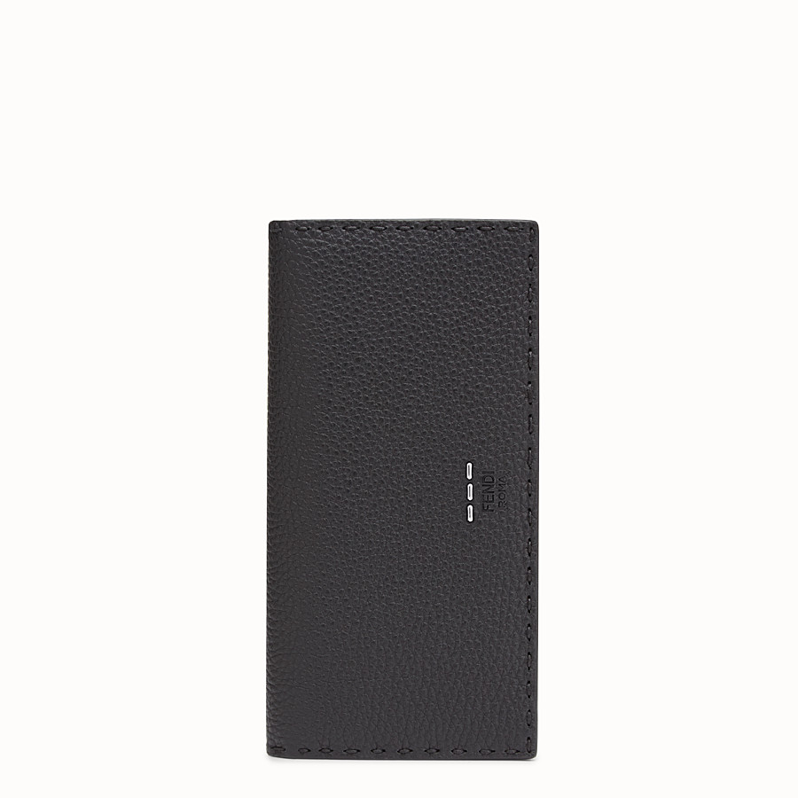 FENDI WALLET - Continental black Roman leather - view 1 detail