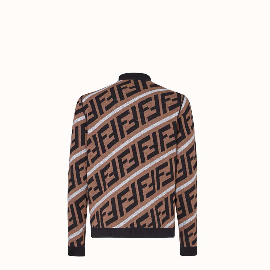 FENDI PULLOVER - Fendi Prints On woollen jumper - view 2 detail