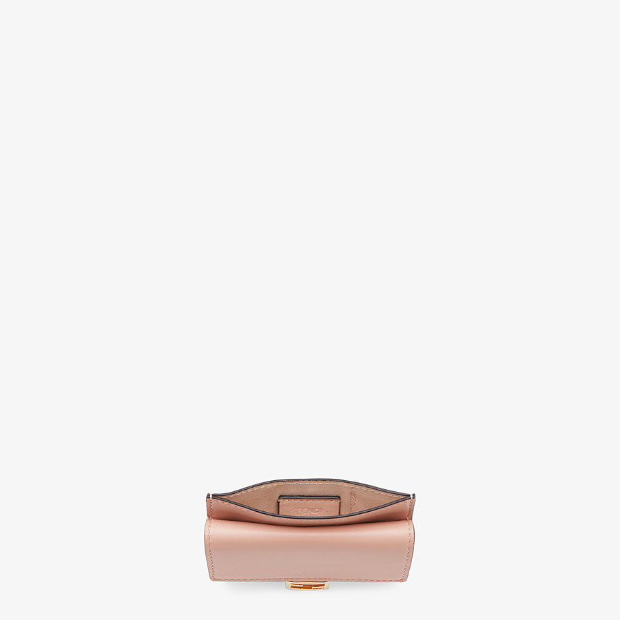FENDI CARD HOLDER - Pink nappa leather cardholder - view 4 detail