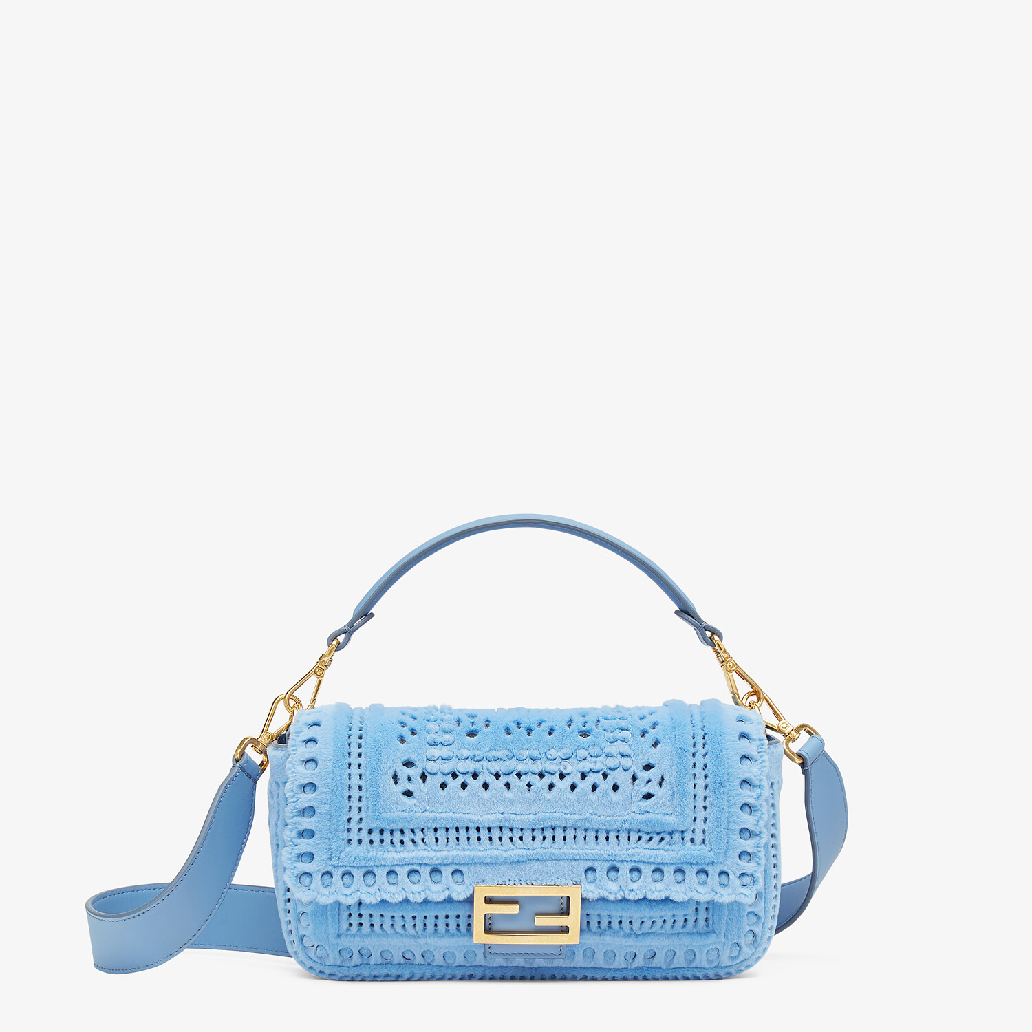 FENDI BAGUETTE - Blue mink bag - view 1 detail