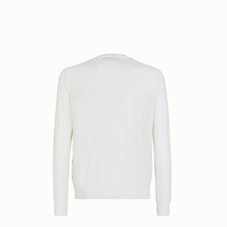 FENDI PULLOVER - White wool jumper - view 2 detail