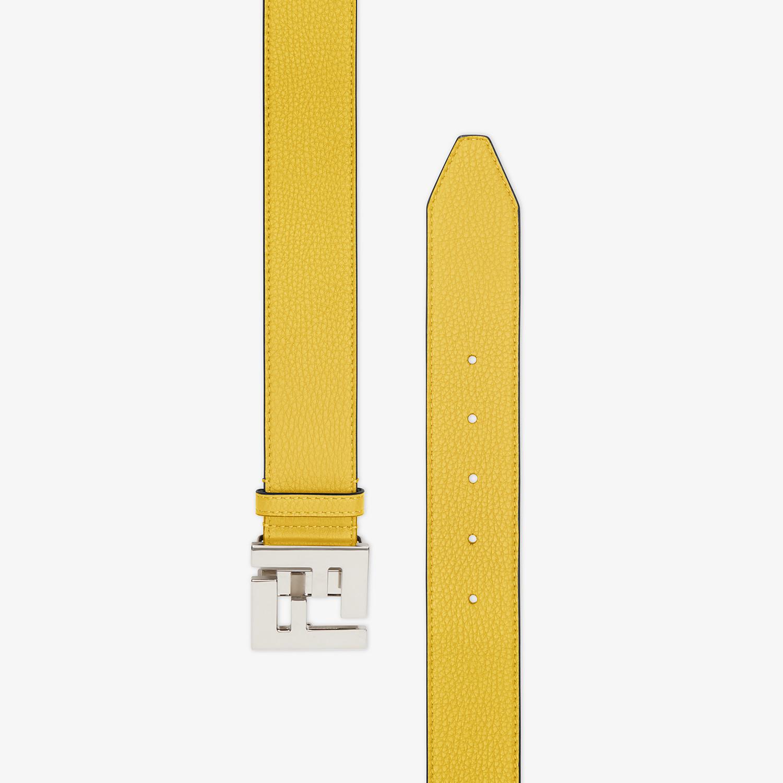 FENDI BELT - Yellow Romano leather belt - view 2 detail