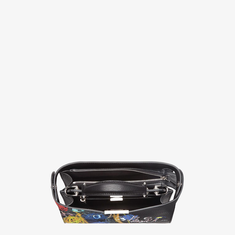 FENDI PEEKABOO ISEEU MINI - Leather bag with multicolor print - view 5 detail