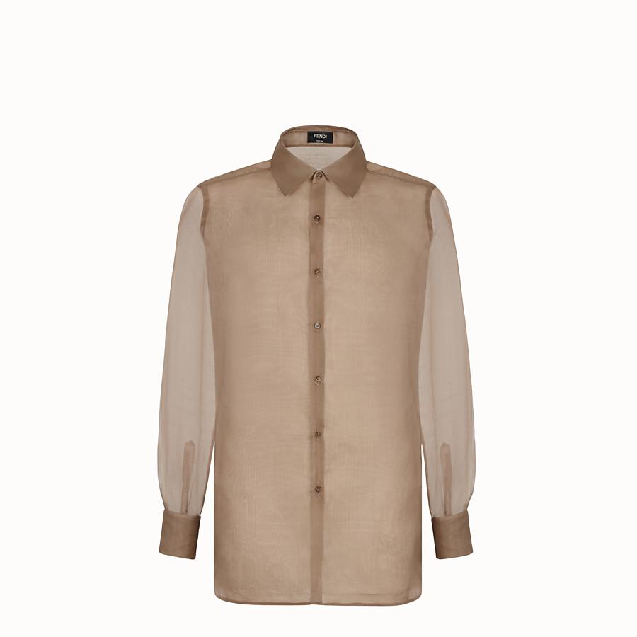 FENDI SHIRT - Brown organza shirt - view 1 detail