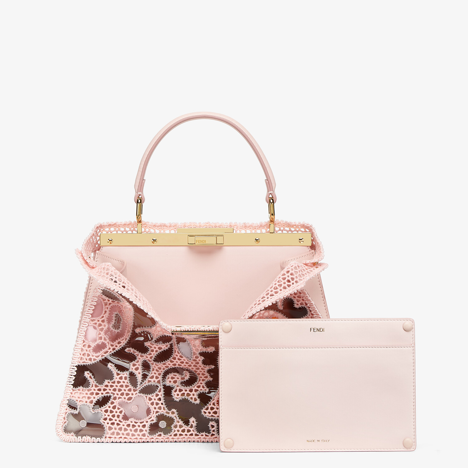 FENDI MEDIUM PEEKABOO ISEEU - Pink lace bag - view 4 detail
