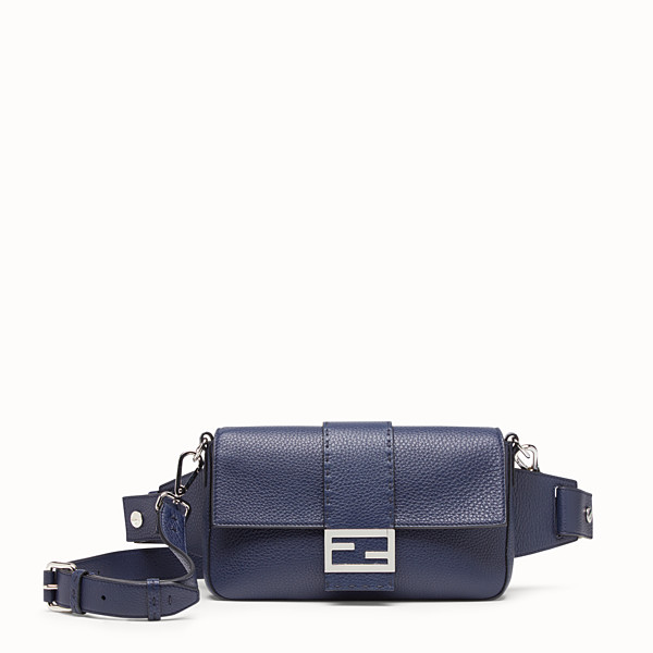FENDI BAGUETTE - Tasche aus Leder in Blau - view 1 small thumbnail