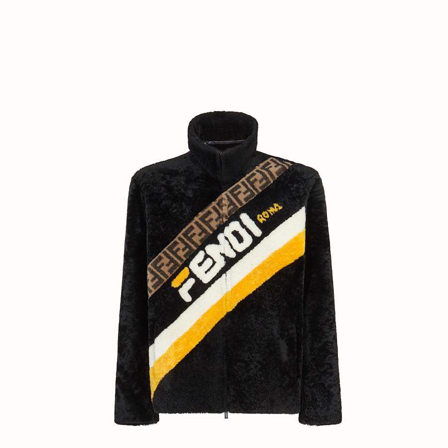 FENDI DENIM - Black sheepskin jacket - view 1 detail