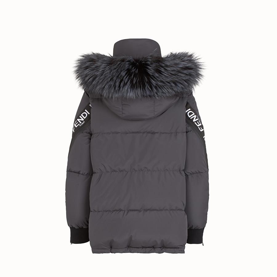 FENDI JACKET - Black nylon down jacket - view 2 detail