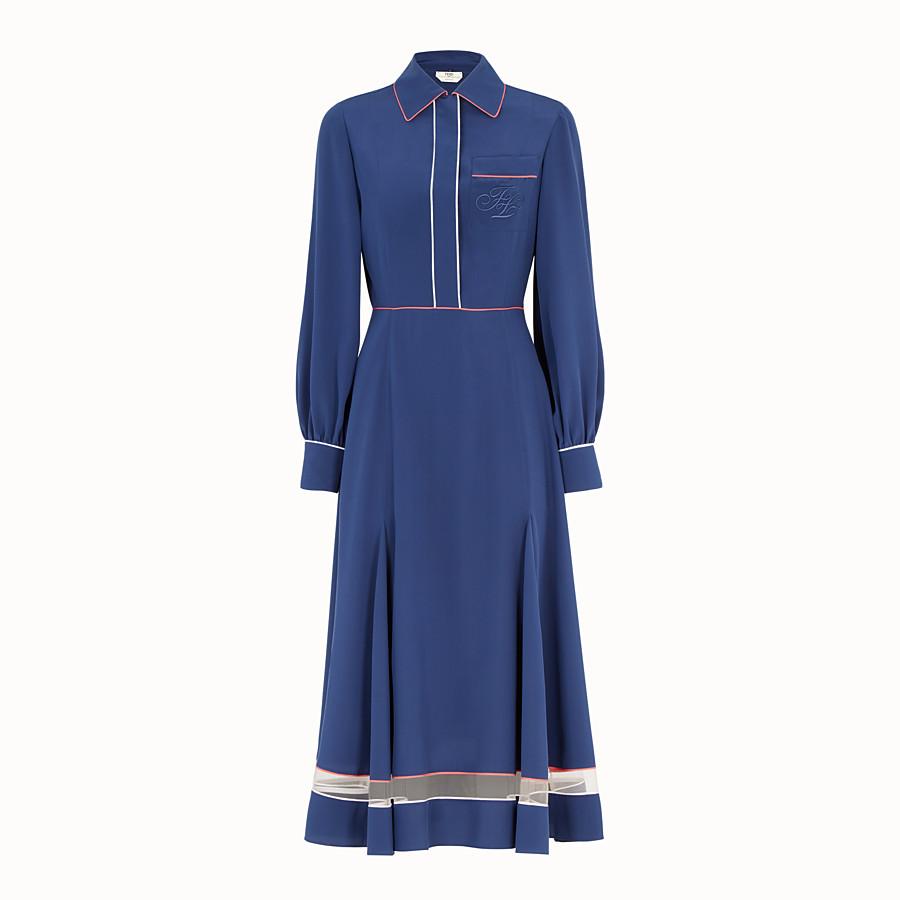 FENDI ドレス - ブルーシルク ドレス - view 1 detail