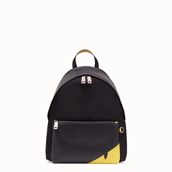 FENDI BACKPACK - Black nylon backpack - view 1 small thumbnail