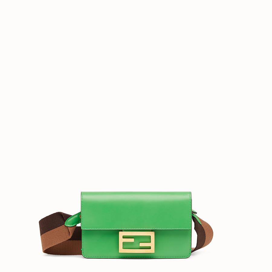 FENDI FLAT BAGUETTE - Green leather mini-bag - view 1 detail