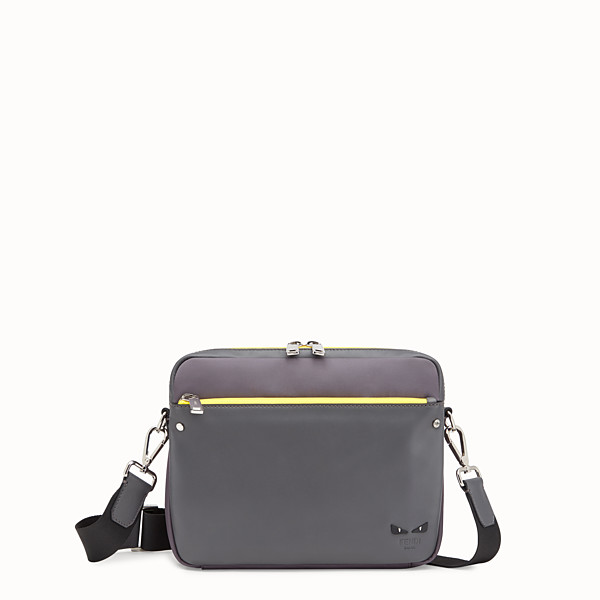 FENDI MESSENGER - Grey fabric and leather bag - view 1 small thumbnail