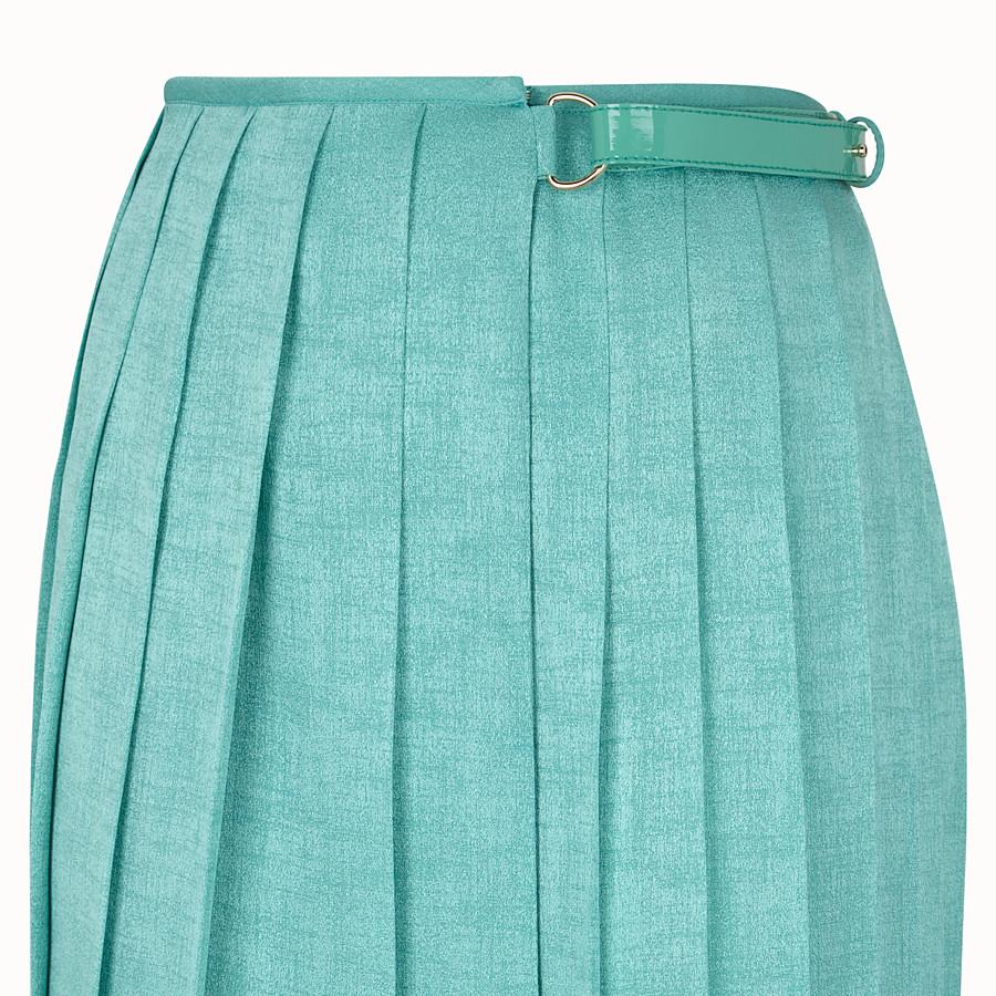 FENDI SKIRT - Aqua green silk skirt - view 3 detail