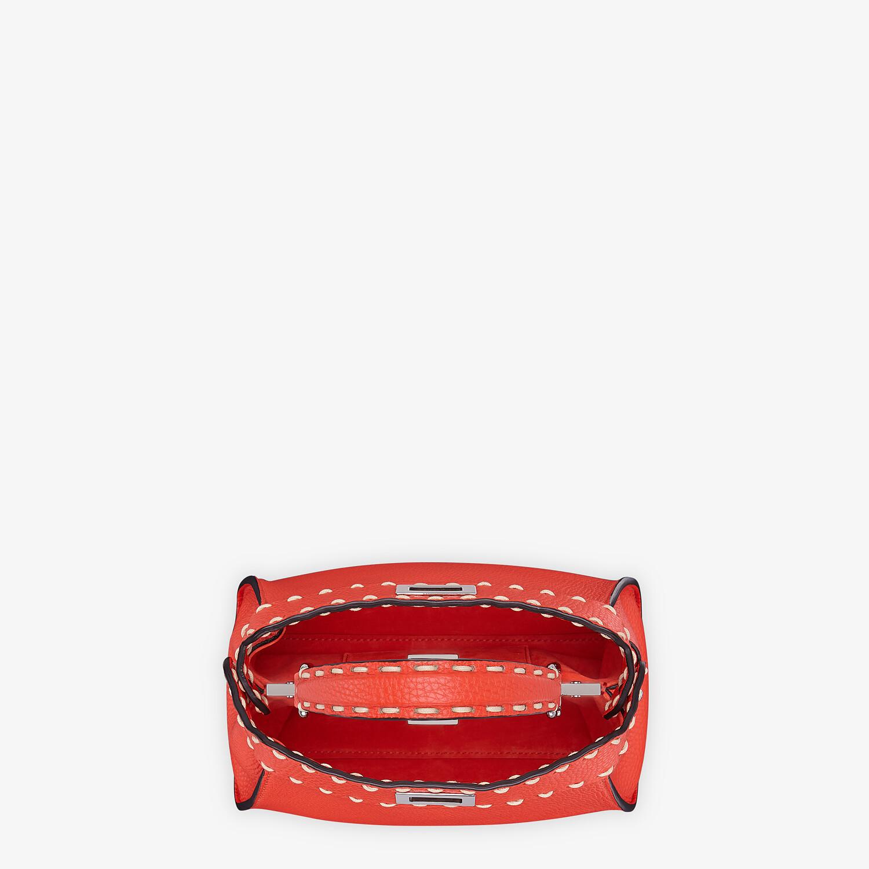 FENDI PEEKABOO ICONIC MINI - Red full grain leather bag - view 4 detail