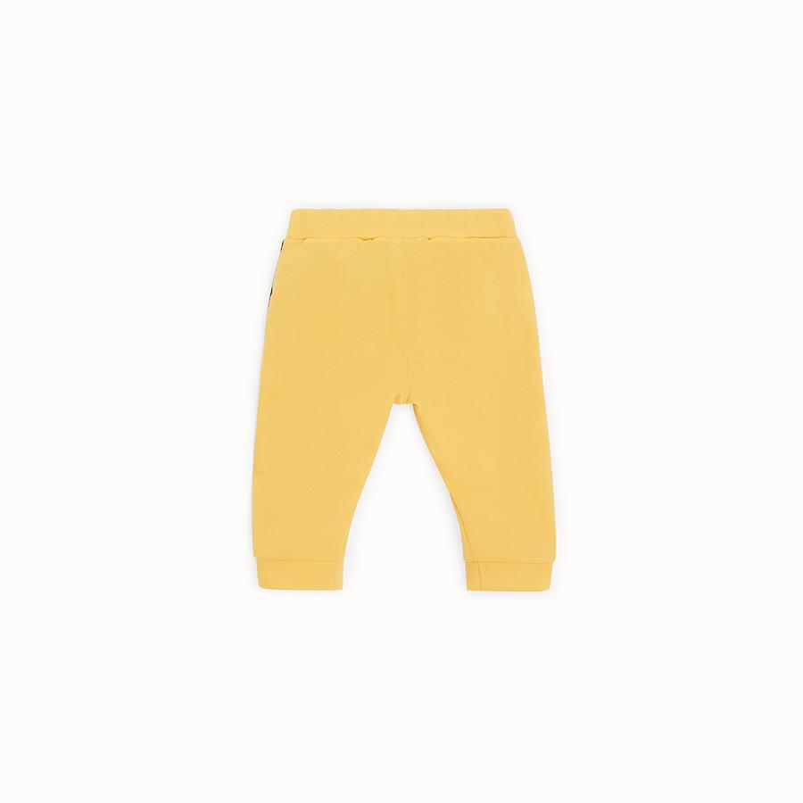 FENDI TROUSERS - Yellow tech mesh jogging trousers - view 2 detail