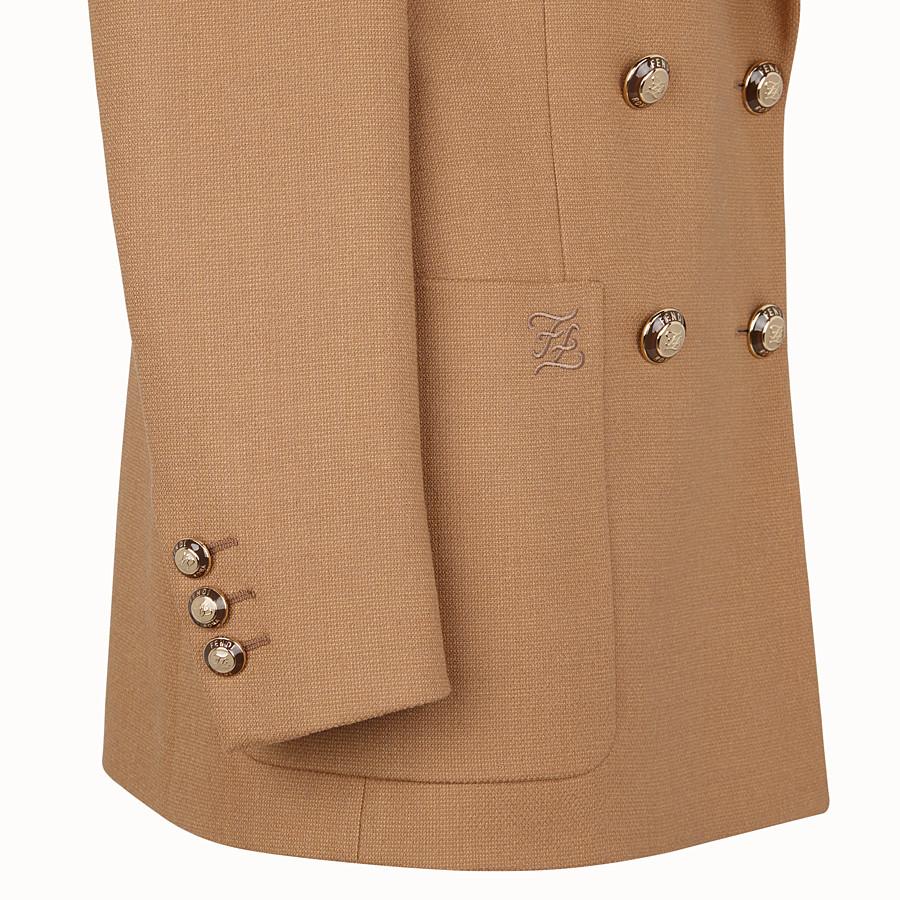 FENDI JACKE - Blazer aus Wolle in Beige - view 3 detail