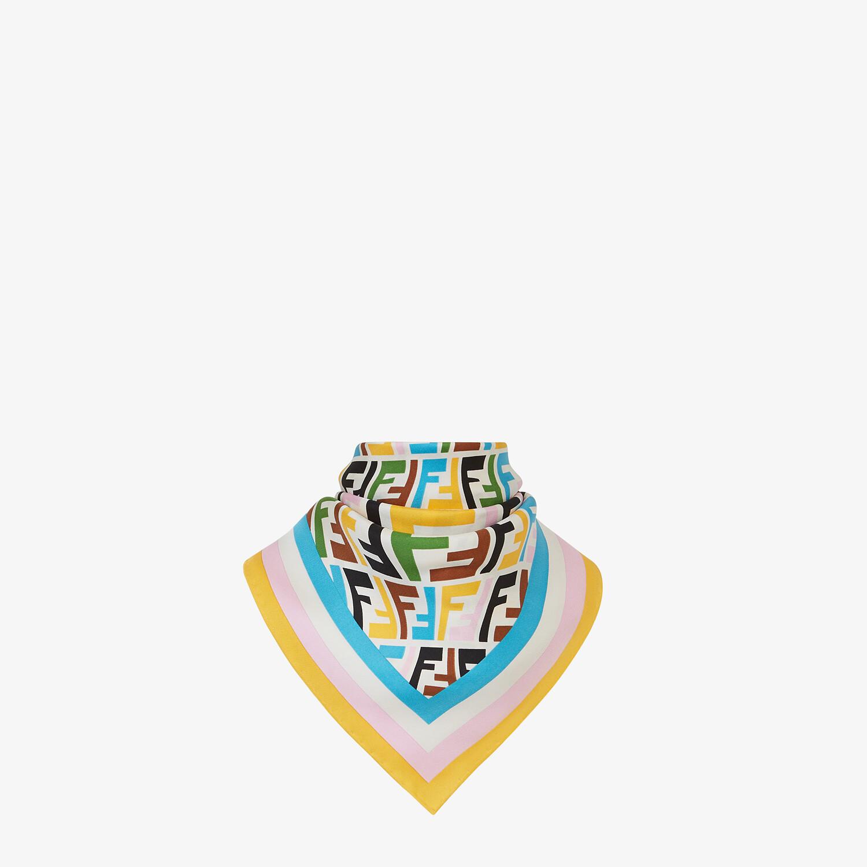 FENDI FF VERTIGO FOULARD - Multicolor twill foulard - view 2 detail