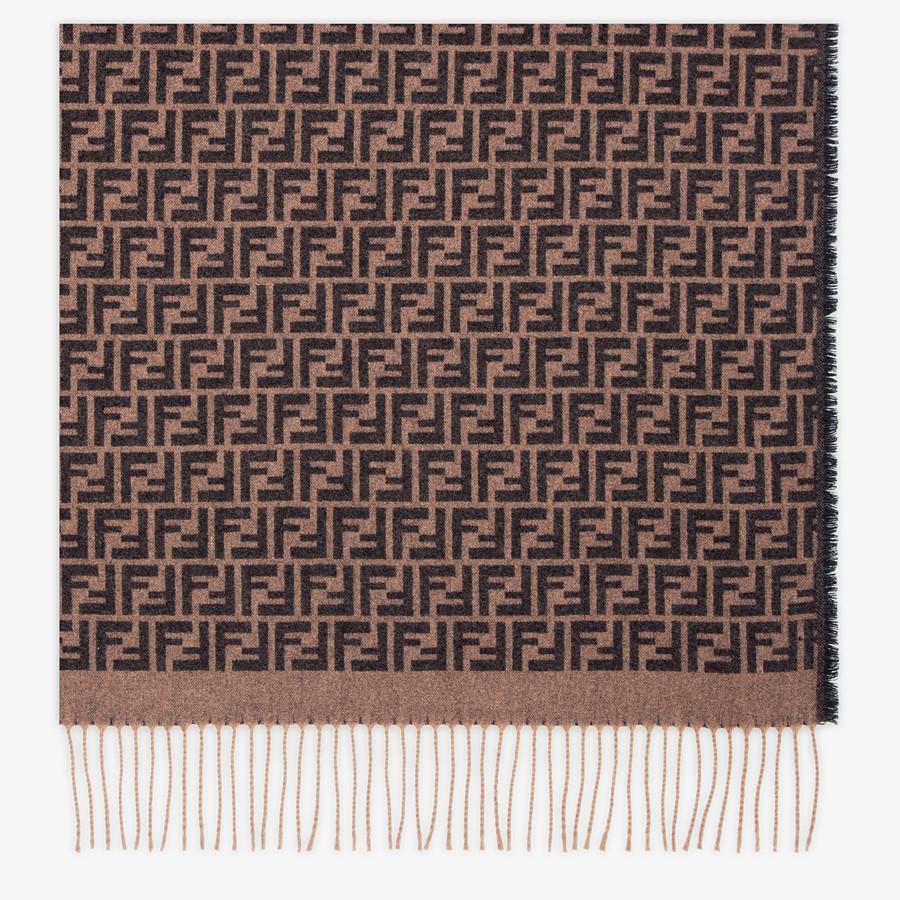 FENDI TRAVEL SET - Brown cashmere travel set - view 2 detail