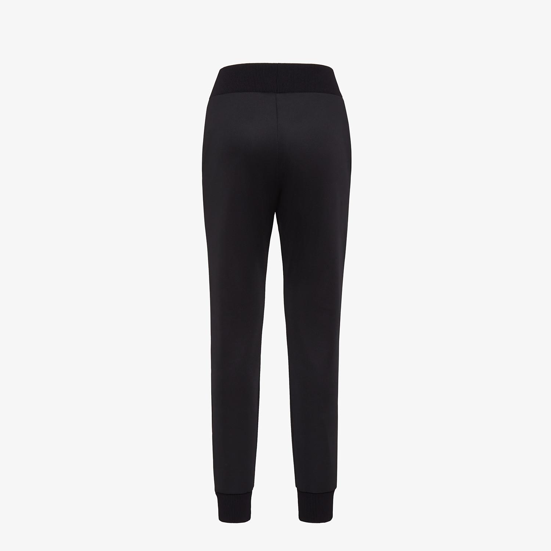 FENDI PANTS - Black jersey jogging pants - view 2 detail
