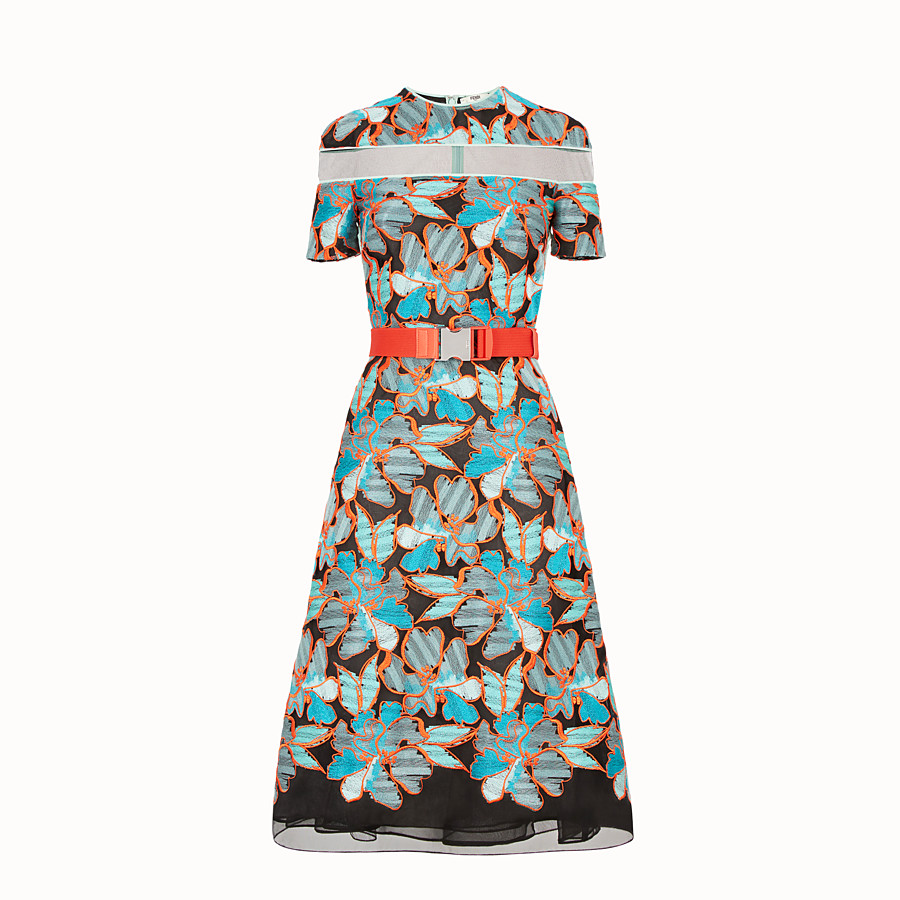 FENDI DRESS - Multicolor lace dress - view 1 detail