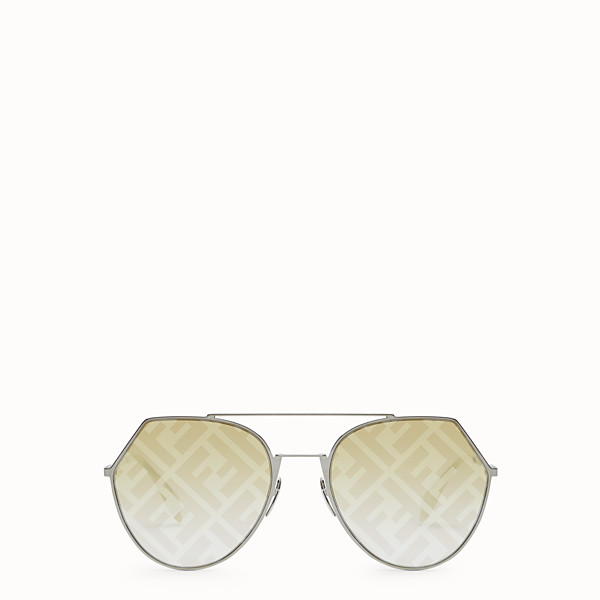 FENDI EYELINE - Ruthenium-coloured sunglasses - view 1 small thumbnail