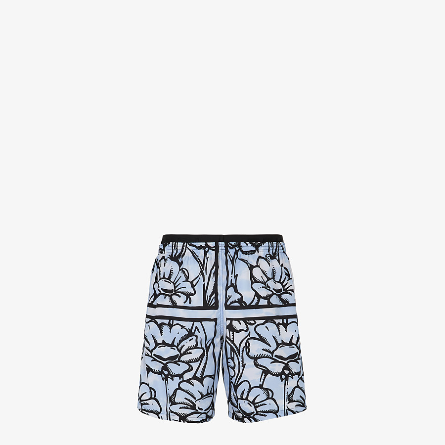 FENDI SWIM SHORTS - Fendi Roma Joshua Vides tech fabric shorts - view 2 detail